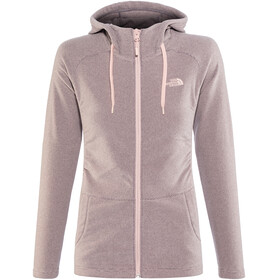 The North Face Mezzaluna Full Zip Hoodie Women Rabbit Grey Stripe